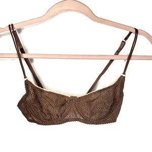 Free people intimately lace cheeky balconette bra